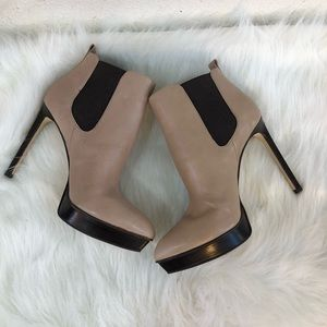 Michael Kors nude tan ankle boots
